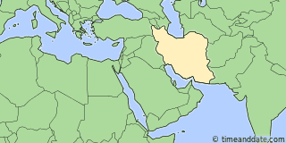 Location of Tehran
