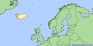 Location of Reykjavik