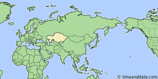 Location of Astana