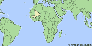 Location of Bamako
