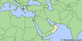 Location of Muscat