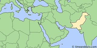 Location of Karachi