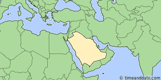 Location of Riyadh