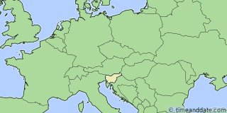 Location of Ljubljana
