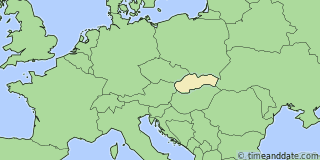 Location of Nitra