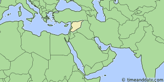 Location of Damascus