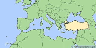 Location of İzmit