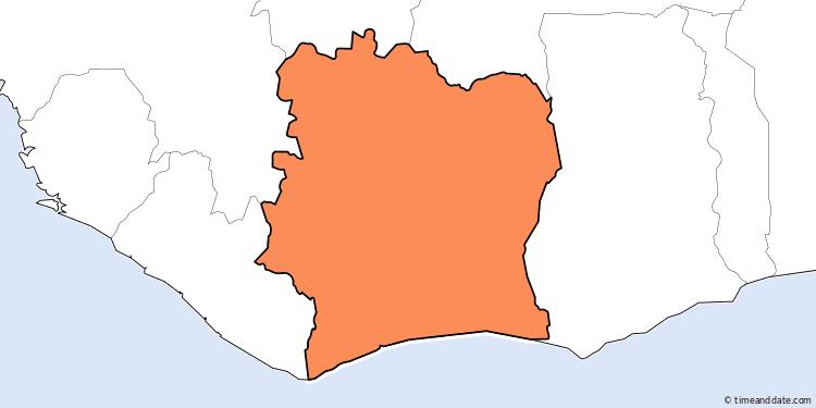 Uhrzeit Elfenbeinküste