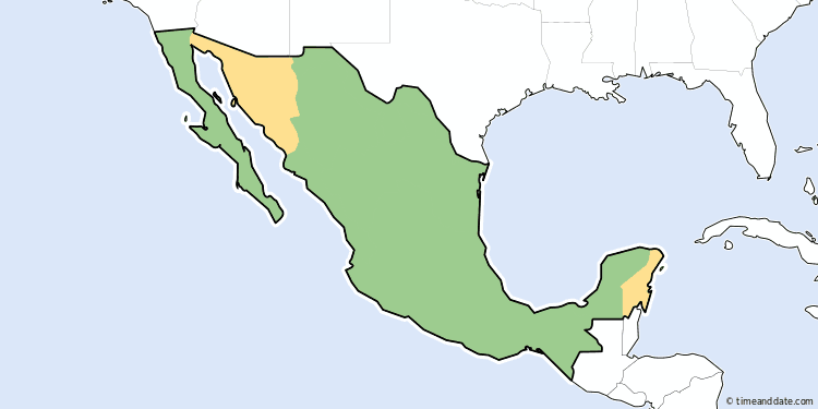 Daylight Saving Time In Mexico - Daylight saving time map us