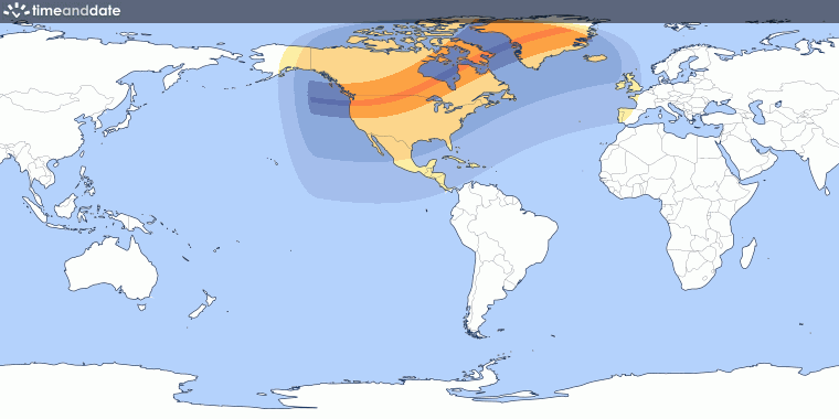 Total Solar Eclipse On February - Total eclipse us coverage map