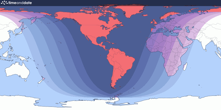 Total Lunar Eclipse on January 20–21, 2019 – Where and When to See