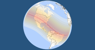 Total solar eclipse on august 12 2045 3d globe map gumiabroncs Choice Image