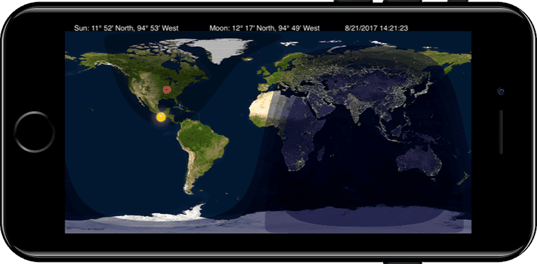 Day night world map app for iphone ipad screenshot of day and night app gumiabroncs Gallery
