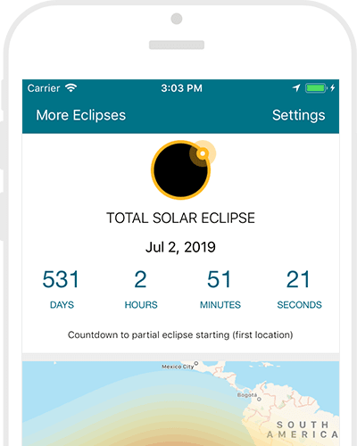 Solar & Lunar Eclipses App Screenshot
