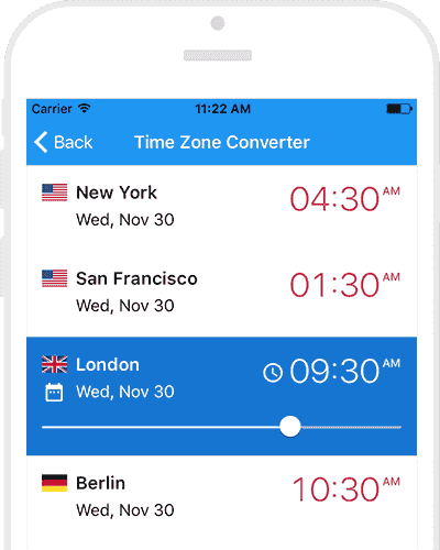 World clock app by timeanddate for iphone ipad world clock app quickly change the time in cities gumiabroncs Images