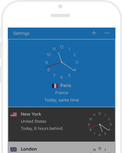 World clock app by timeanddate for iphone ipad world clock app feature tour gumiabroncs Images