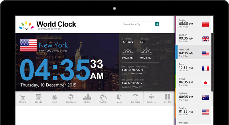 World clock for windows 8 10 world clock app for windows gumiabroncs Choice Image