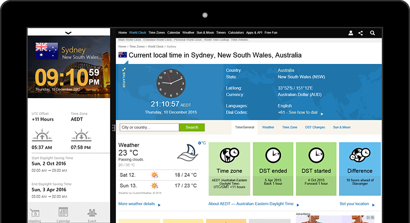 World clock for windows 8 10 world clock app easy access to other services gumiabroncs Choice Image